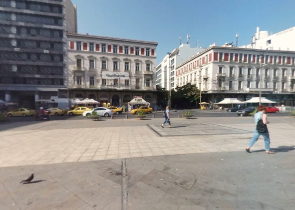 Athens - Omonia Square and Station Front