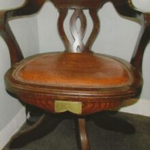 In 1902 Levi was presented with a beautiful oak carved swivelled chair.