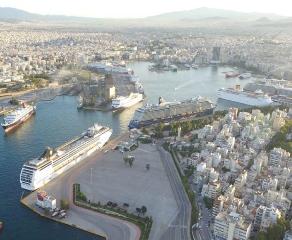Modern Port Of Piraeus