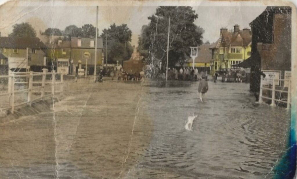 October 1960, the Monks Brook river burst its banks