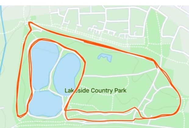 map of running route