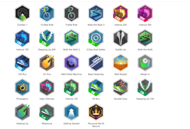 Activity Reward Badges