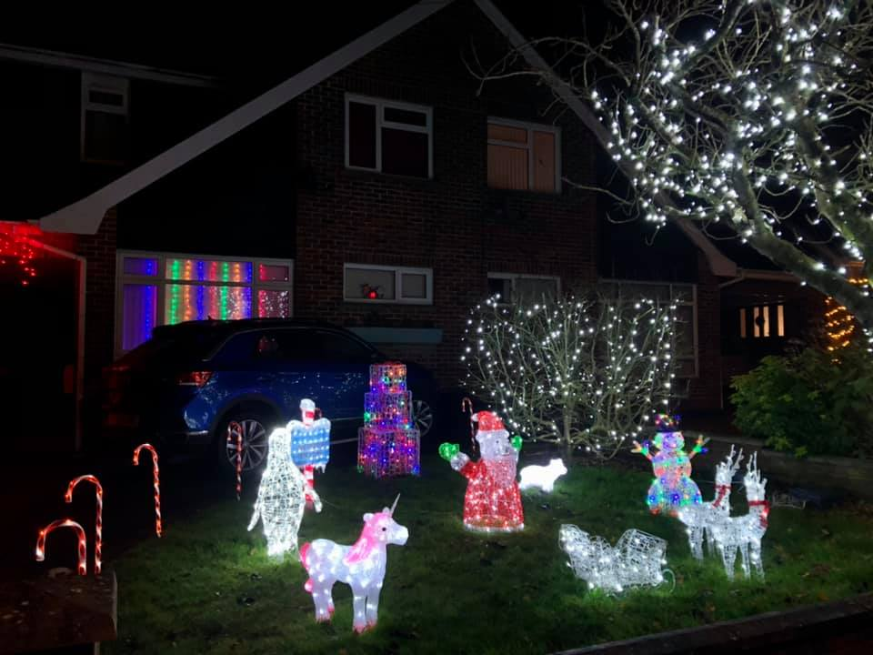 Chalvington Road, Chandler's Ford, Christmas 2020