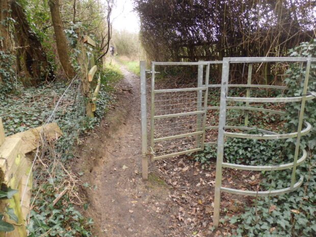 gate at end of path
