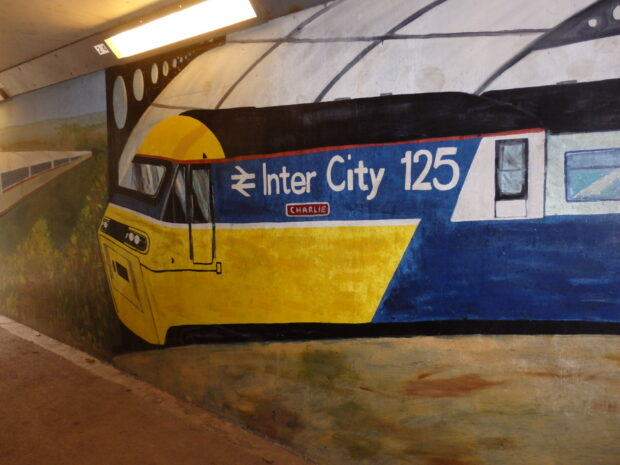 Mural of Intercity 125