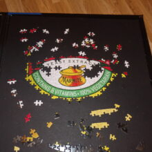 partially complete jigsaw - marmite