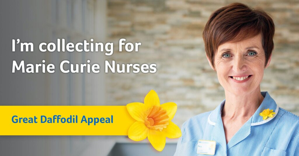 Picture of a nurse - Marie Curie charity