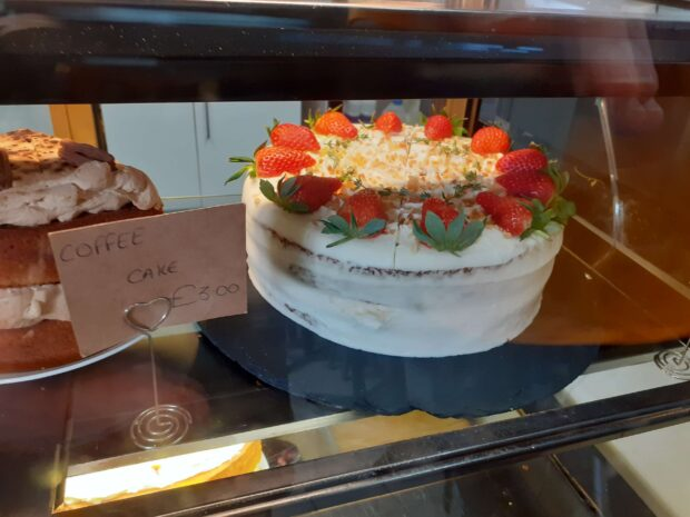 One of the amazing cakes at Lakeside Cafe