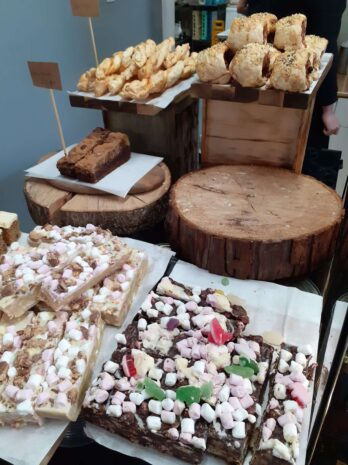 A sample of the array of cakes at Lakeside Cafe