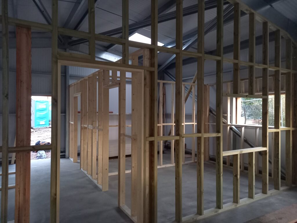 The internal of the new building. Your donation will help to get this completed.