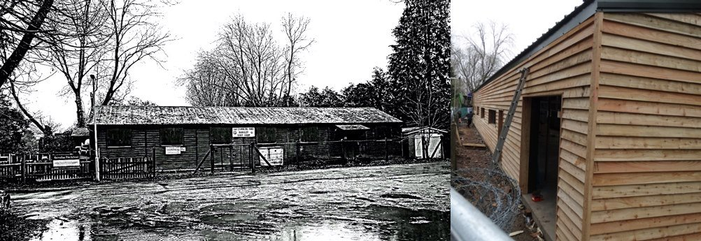 Old Hall vs New hall under construction - The 2nd Chandler's Ford (Ramalley) Scout headquarters.