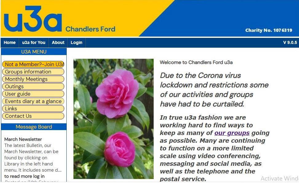 Chandlers Fod u3a