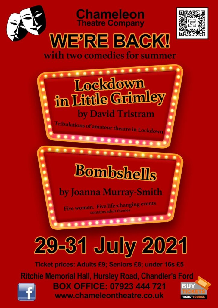 Chameleon Theatre Company: We're back with two comedies for summer.