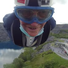 A zip wire adventure in Wales - Andy Vining.
