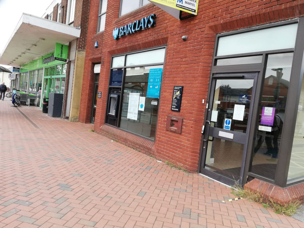Barclays Chandlers Ford branch is closing on Friday 30 July 2021.