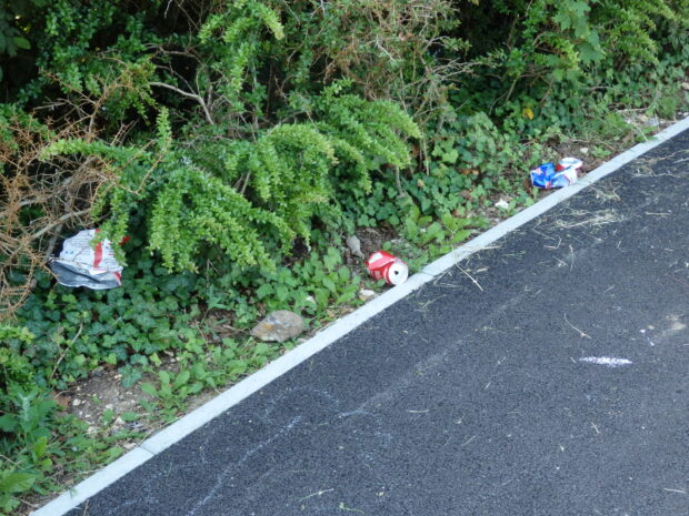 discarded litter