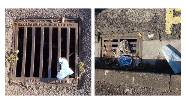 drains blocked by litter