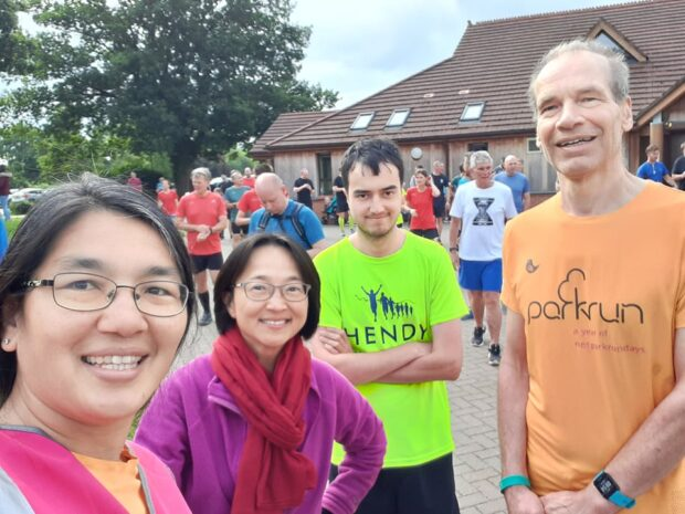 Team CFT assemble for the morning's parkrun