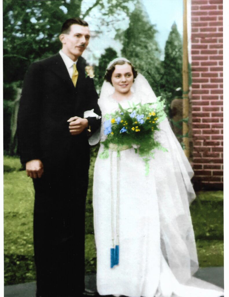 Mum and Dad's wedding Circa 1938 (Photo by Andy Vining)