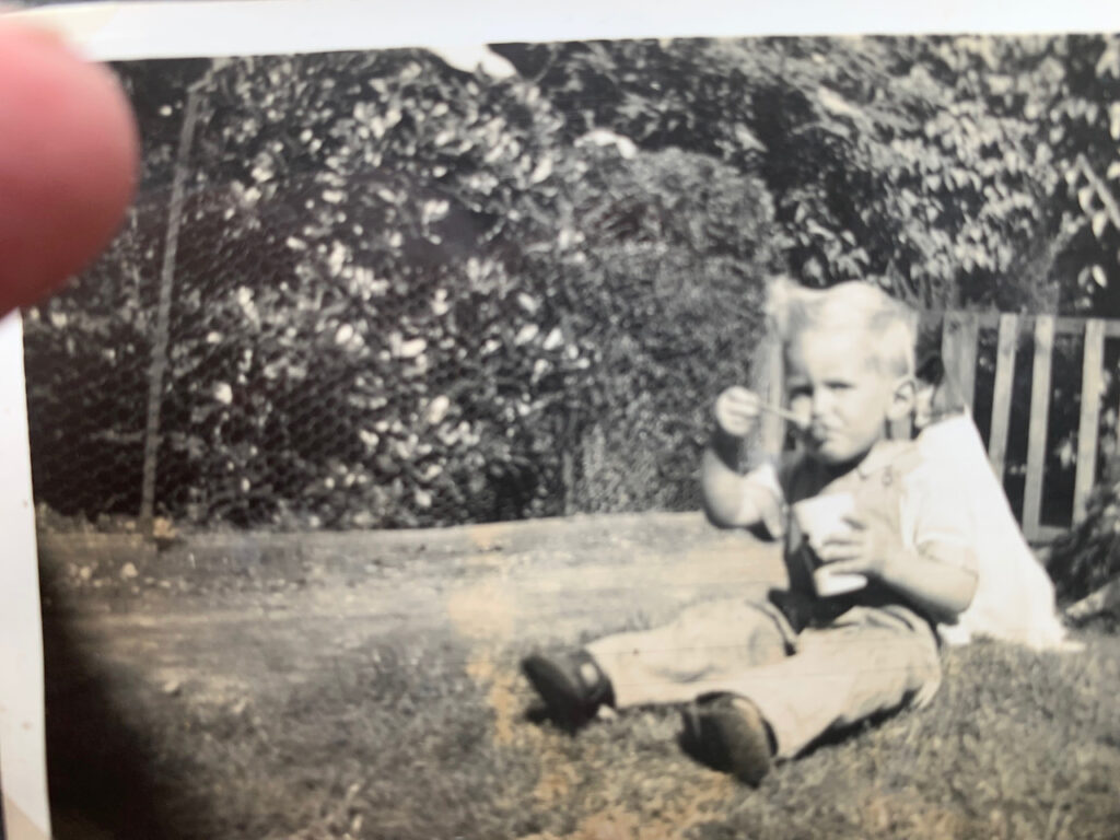 Me aged 2 - Andy Vining
