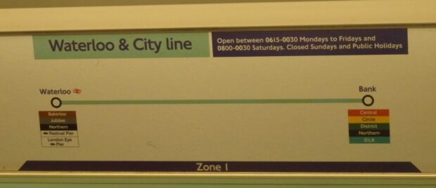 waterloo and city line map