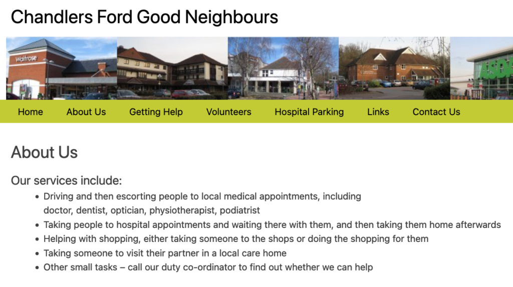 Do you need some help? Could you be a volunteer with Chandlers Ford Neighbours?
