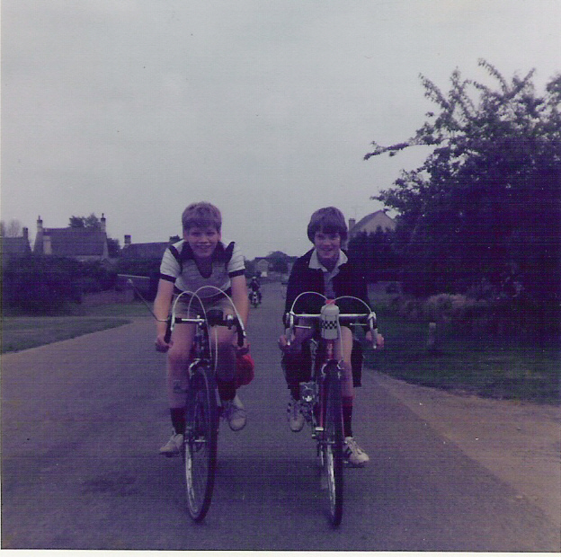 A young Chippy and friend setting off on their first youth hostelling adventure