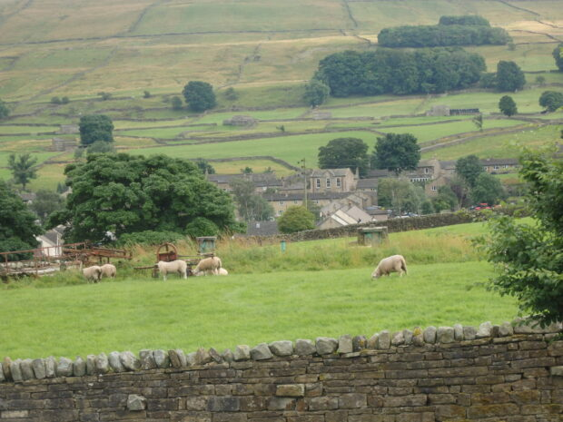 View from Hawes Youth Hostel