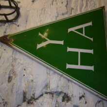 The original green triangle logo of the YHA. (picture credit: cuthbert25 via Flickr.com)