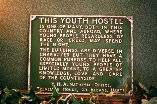 This notice was displayed outside every youth hostel – it would be called a Mission Statement today. (Picture credit: Simon Hunt via Flickr.com)