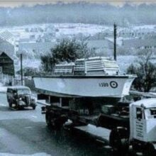 Chandler's Ford. RAF launches on the move dated 1955...'1599' nearest camera and '1565' behind. Image via Tim Deacon